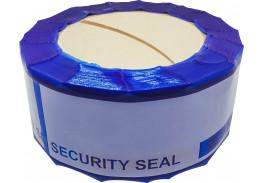Защитная лента номерная синяя 50х150 мм (50 метров)