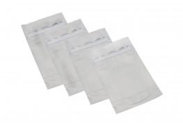 Упаковочные зип пакеты дой пак Forceberg HOME&DIY с замком zip-lock 10х15 см, белый/прозрачный, 15шт