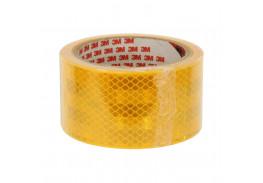 Лента светоотражающая 3M 983-71, алмазного типа, желтая, 53,5 мм х 5 м